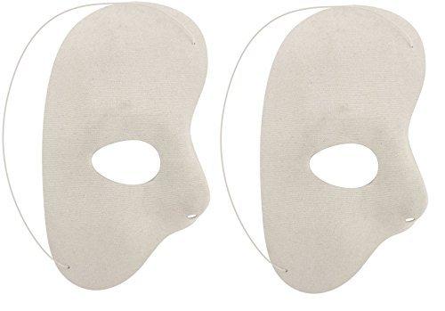 Henbrandt 2 x Halbmaske weiß Phantom der den Abend Oper Erwachsene Maskerade Party