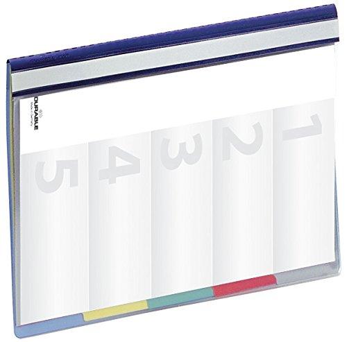Durable 255706 Divisoflex 5-teiliger Hefter, 1 Stück blau