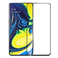 Tempered Glass For Samsung Galaxy A80 Full Screen Protector - Black Frame