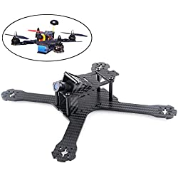 DroneAcc X210 Carbon Fiber FPV Race Drohne Quadcopter Frame for Brushless Motor 2204 2205 2206 (4MM)