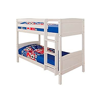 3ft Single Bunk Bed White Wash Finish Solid Pine Wood Christopher - cheap UK light store.
