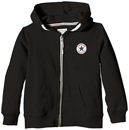 Converse Boys Solid Sweat Shirt (_617845054053_Black_10-11 Years_)