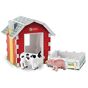 Learning Resources- Set de Juego Jumbo con Animales de Granja, Color (LER0831)
