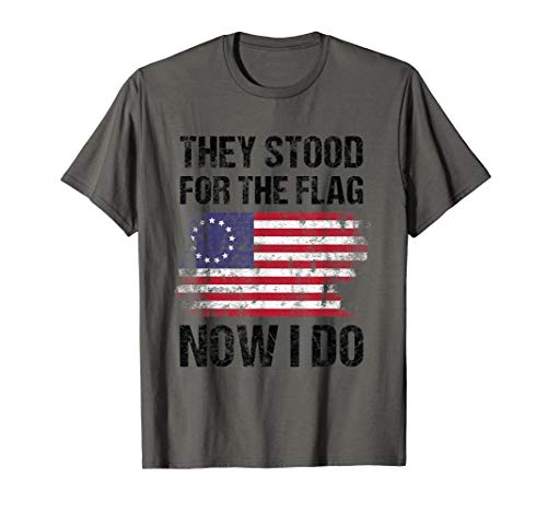 Patriotisch Zitat Militärveteran Geschenk Betsy Ross Flagge T-Shirt