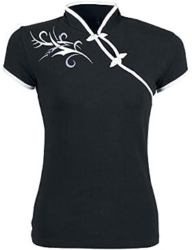 Tribal Fantasy Camiseta Mujer negro-blanco