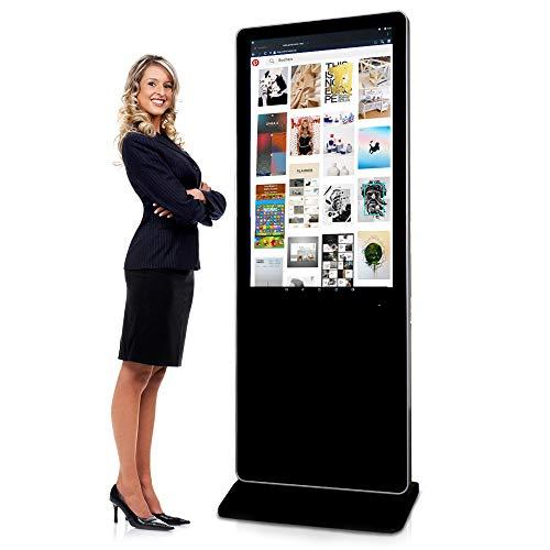 Digital Signage Stele - Digitalsystem mit Wow-Effekt von Mydisplays - 43 Zoll Touchscreen LCD Panel Schwarz - Multimedia Säule Indoor