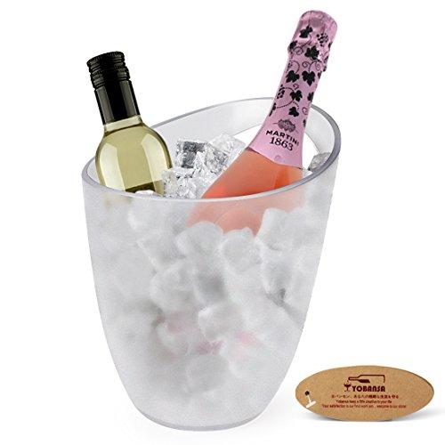 yobansa Acryl klar Wein oder Champagner Flaschen Eis, Eimer, Bar, Wein Zubehör 1 Handle Bucket