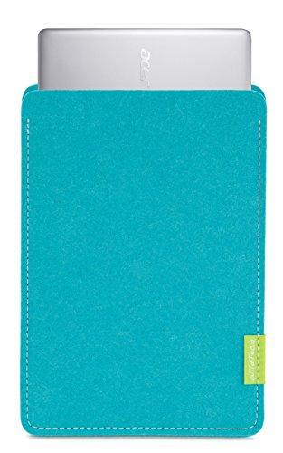 WildTech Sleeve für Acer Chromebook 14 (CB3-431-C6UD) Hülle Tasche aus echtem Wollfilz - 17 Farben (Handmade in Germany) - Türkis