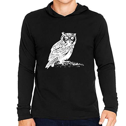 Idakoos Owl Sketch Kapuze Langarm T-Shirt M -