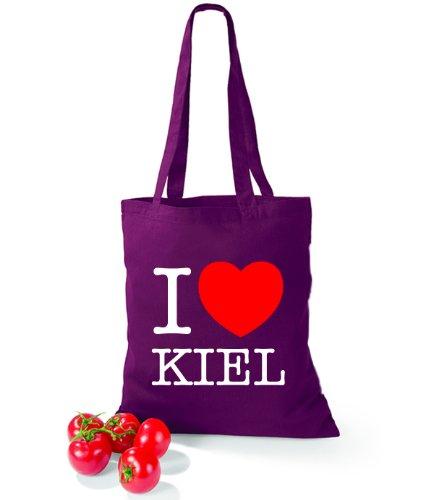 Sacchetto Di Cotone Dettatura Darte Amo Kiel Burgundy