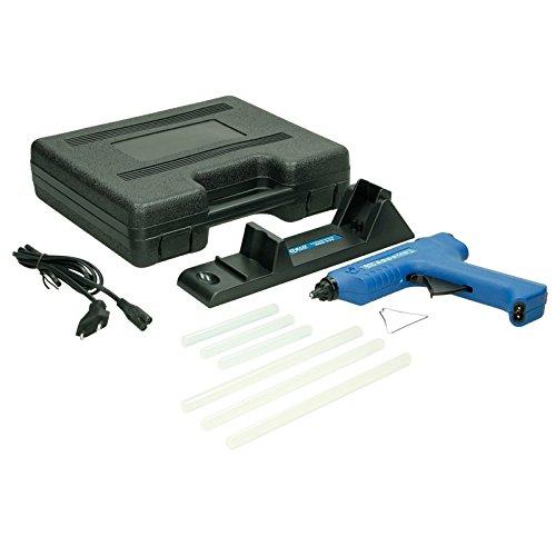 ECD Germany Kabellose Heißklebepistole 80W - 500W - inkl. 6 Klebesticks 11 mm - mit Ladestation und Systemkoffer - Heißklebegerät Klebepistole Heißkleber Starter