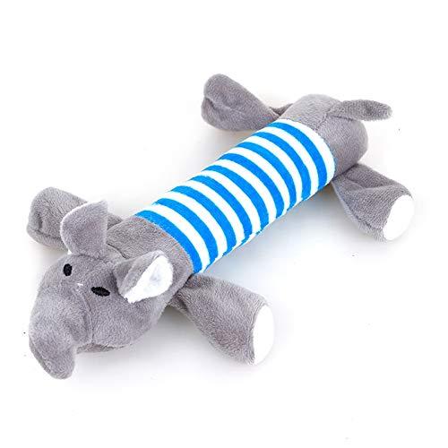 Atmny Hundemolaren Elefant Streifen Sounding Hundespielzeug Teddy Golden Retriever Welpen Große Hunde Beißen Haustiere Plüschtiere (Valentines Hund Stofftier)