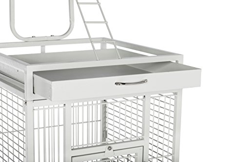 Prevue Hendryx 3151C Pet Products Wrought Iron Select Bird Cage, Chalk White,18'' x 18'' x 57'' 5