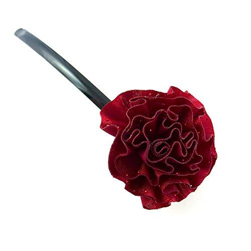 rougecaramel - Accessoires cheveux - Mini pince fleur - rouge