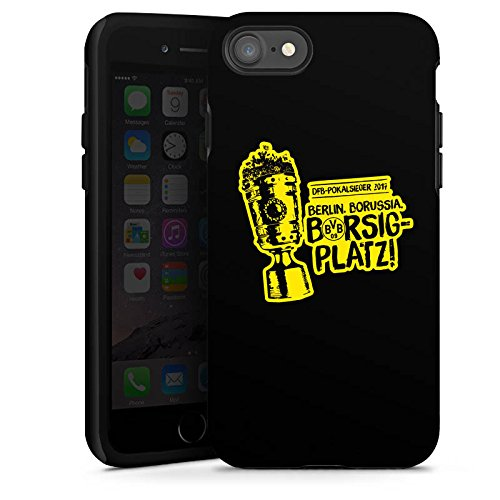 Apple iPhone 6s Silikon Hülle Case Schutzhülle Borussia Dortmund Pokalsieger BVB Tough Case glänzend