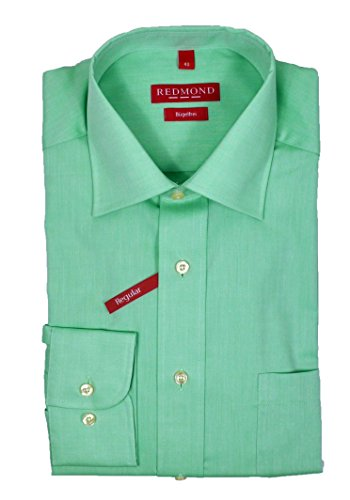Redmond - Regular Fit - Bügelfreies Herren Langarm Hemd in mint-grün (210100) Grün(62)
