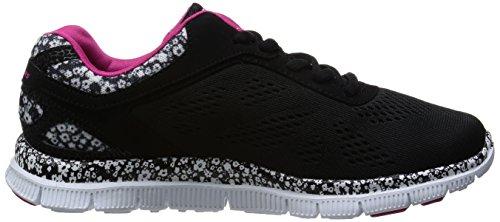 Skechers Flex AppealIsland Style, Baskets Basses Femme Noir (Bkw)
