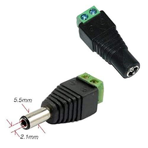 dandeliondeme DC Female Plug + DC Stecker, 0,6x 0,2cm 36V 4.0A DC Netzteil Adapter Jack Männlich Weiblich Stecker Multi