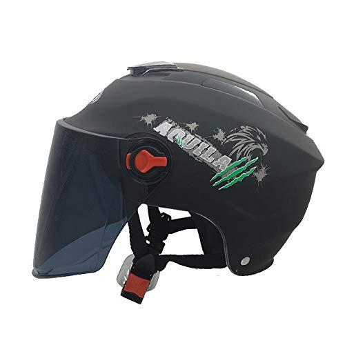 HAMKAW Casque électrique Moto été - Matière Plastique PP, conçue avec Une variété d'aérations,Bonne Ventilation, avec Une Couche Tampon à l'intérieur, Meilleure Protection de la tê
