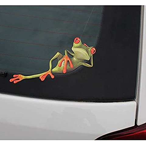 3D Peep Frog Funny Car Stickers Truck Window Decal Graphics Sticker (6W X 7L, PIC 3)
