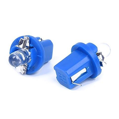 TOOGOO(R) 10 T5 Ampoule Lumiere LED Jauge Bleu pour Compteur Tableau De Bord Voiture DC12V