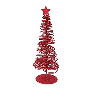 Amosfun Mini árbol de Navidad Artificial Mesa de Navidad Centro de Mesa árbol de Navidad Hierro árbol de Navidad Adorno de Brillo de Escritorio para Fiesta