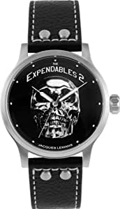 Jacques Lemans Unisex-Armbanduhr The Expendables 2 Analog Quarz Leder E-221