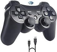 Sefitopher Joystick PS3,senza fili Controller di gioco per PS3, Bluetooth Controller con cavo di caricabatteri