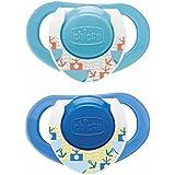 Chicco Sucette Physio Active Silicone avec Boîte de Protection Stérilisable x2 Bleu 12 mois +