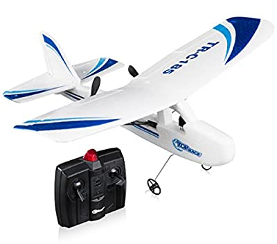 Top Race Cessna C185 Electric 2 Ch Infrared Remote Control RC Airplane, Ready to Fly (Colors Vary) by Top Race