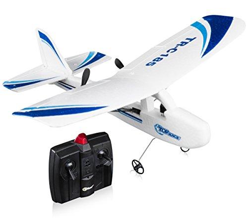Top Race Cessna C185 elektrisches 2-Kanal Ferngesteuerter Flugzeug RC Flugzeug mit Infrarotfernbedienung, flugbereit (unterschiedliche Farben)