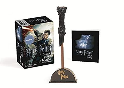 Harry Potter Wizard's Wand with Sticker Book: Lights Up! (Miniature