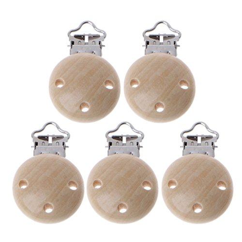 5 Stücke Metall Holz Baby Schnuller Clips Säugling Schnuller Verschlüsse Halter Zubehör