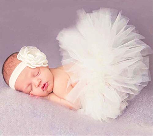 Eleusine Baby Neugeborenen Fotografie Requisiten Baby Tutu Rock Stirnband Set Bilder Requisiten Neugeborenen Fotografie Zubehör (Stil 11) -