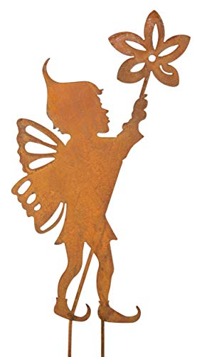 Blümelhuber Gartenstecker Elfe 50cm Metall Rost Gartendeko Edelrost Groß