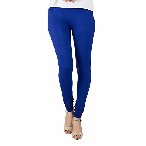 Rooliums ® (Brand Factory Outlet) Women's Premium Cotton Lycra Leggings 160 Gsm Combo Pack Of 1 Blue - FREE SIZE