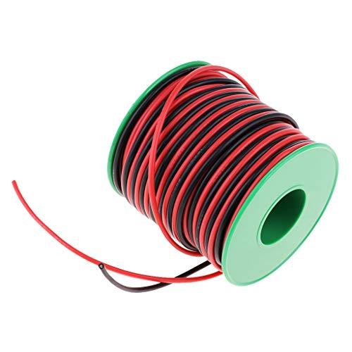 Homyl 22AWG Flexibel Silikon Elektrische Draht Seil Silikonkabel Silikondraht, Länge 40m -
