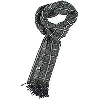 El hombre es grueso cálido otoño e Invierno bufanda bufanda bufanda de seda Classic plaid para hombres pulido cepillado bufanda caliente