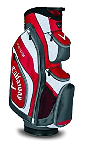 2015 Callaway Chev ORG Cart Bag Mens Golf Trolley Bag 14-Way Divider Red/Charcoal/White