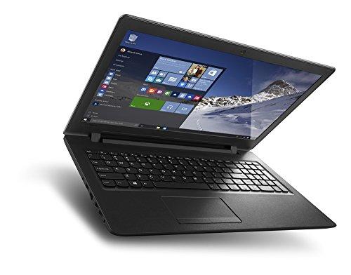 Lenovo ideapad 110 3962cm 156 Zoll HD Glare Notebook Intel Pentium N3710 Quad major 256GHz 4GB RAM 128GB SSD Intel HD Grafik 405 DVD Brenner Windows 10 property schwarz Notebooks