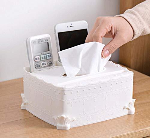 Hand Geschnitzten Couchtisch (HANQINGLI Europäischen Stil Geschnitzten Tissue-Box Kreative Heimat Desktop Serviettenschale Wohnzimmer Couchtisch Aufbewahrungsbox Multifunktionsschale Länge 18,3 Breit 16,3 Hoch 8,3 cm)