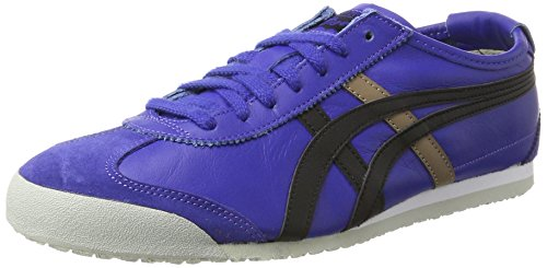 Onistuka Tiger Aaron, Chaussures de basket-ball mixte adulte - Bleu (4301-Medieval Blue/Tango Red), 40.5 EU (6.5 UK)