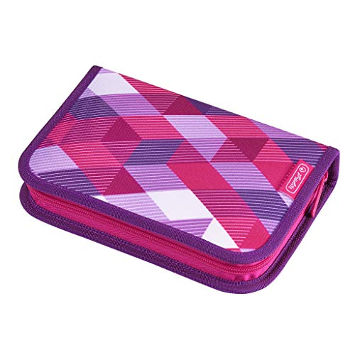 herlitz 50020973 Schüleretui Pink Cubes, 31-teilig, 1 Stück