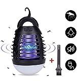Lampada Anti-zanzara Portatile con Luce da Campeggio Lampada Anti-zanzara 2200mAh USB Ricaricabile...