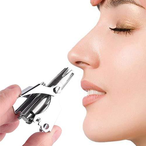 Nasenhaarschneider Edelstahl Waschbar Haarentfernung Mit Reinigungsbürste Erforderlich Manuelle Mechanische Bedienung Stummschneider Cutter Für Männer Frauen Ziemlich -