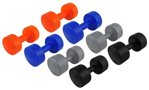 28 Kg (2x2, 2x3, 2x4, 2x5) Kunststoff-ummantelte Gymnastikhanteln / Fausthanteln / Rundhanteln