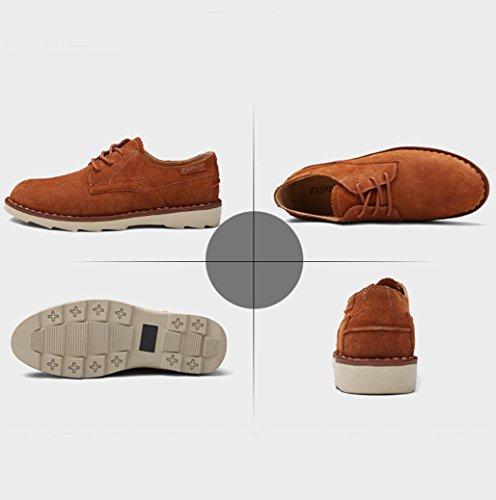 Homens Causais Patinador Verdadeira amp; Corte Sapatos Marrom Luz Que Baixo M Coração Sapatos Camurça De qUxATRUE