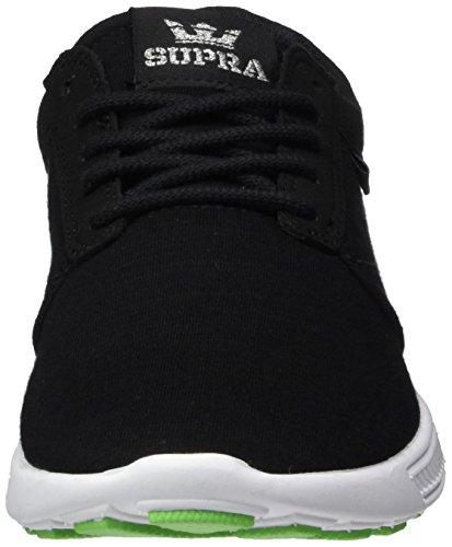 Supra - Hammer Run, Pantofole Donna Nero-Bianco