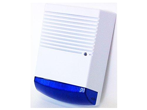 Dummy Burglar Alarm Box – Solar Powered – Dummy Alarm Siren – Blue Lens – Flashing LED Light