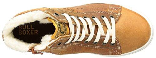 Bullboxer Hightop Sneaker Leder braun momosa tan